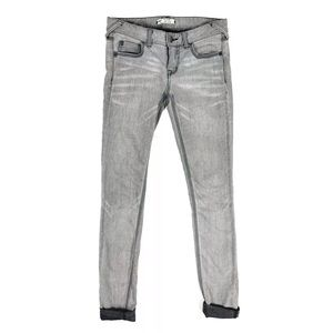 Free People Jeans Skinny Gray Cuffed Size 26